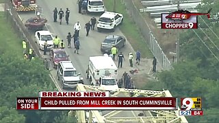 Child pulled from Mill Creek in South Cumminsville