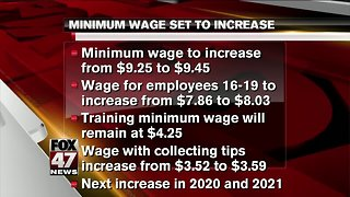 Minimum wage increase for Michigan employees taking effect March 29