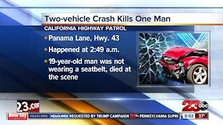 Two-vehicle crash kills one man