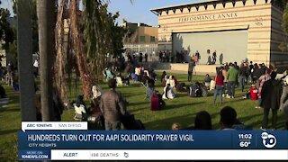Hundreds turn out for AAPI solidarity prayer vigil