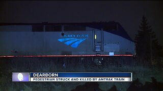 Pedestrian hit & killed by Amtrak train in Dearborn
