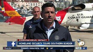 Homeland Security Secretary tours Southern Border