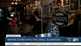 Winter storm impacting small businesses