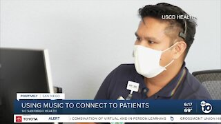 Nurse uses songs to connect with patients