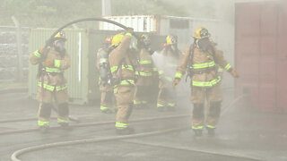 MCIPAC Fire Department conducts live fire flashover training