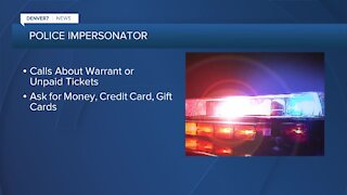 Police impersonator warning, scammer calling people