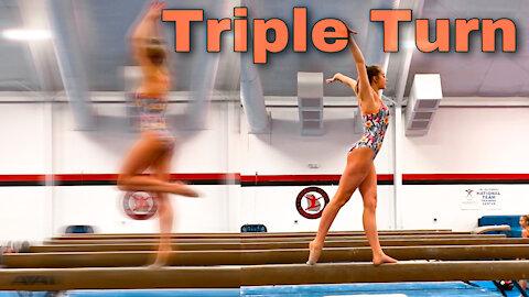 Triple Turn on Balance Beam | Whitney Bjerken