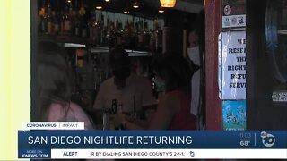 San Diego nightlife returning