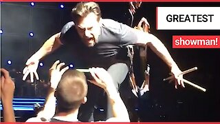 Superstar Hugh Jackman went 'full Wolverine' for one of his biggest fans during a show