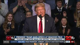 President Donald Trump gives speech in Bakesfield