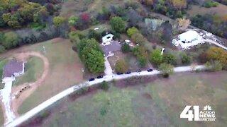 Drone video from scene of Leavenworth Amber Alert