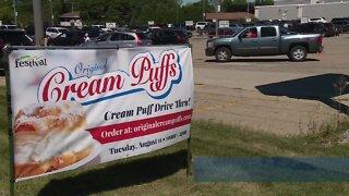 A cream puff will make you smile