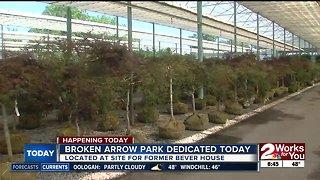 Broken Arrow park dedicated today