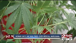 Woman says she was fired over medical marijuana