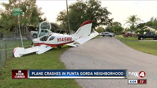 Pilot walks away from plane crash
