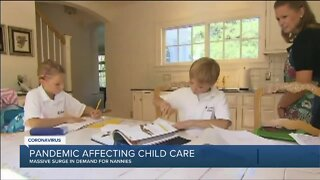 Local demand for nannies surges as kids head back to school