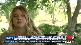Perfect attendance in school
