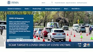 Scammers target loved ones of COVID-19 victims