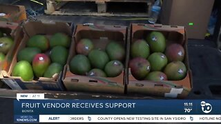Fruit vendor receives support after reports of harrassment