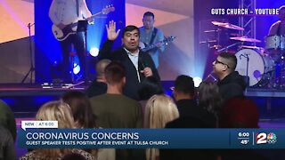 Guest speaker at Guts Church tests positive for COVID