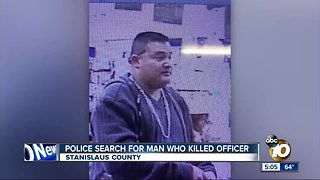Police search for man who killed officer