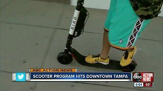 Electric scooter program hits downtown Tampa