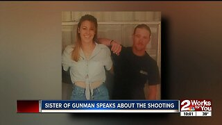 Sister of gunman speaks about the shooting