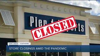 Store closings amid coronavirus pandemic