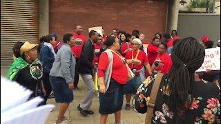 Durban workers join NHLS strike (YA5)