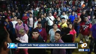 San Diego to sue Trump administration over asylum seekers