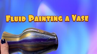 (2) Painting a Flower Vase Easy Acrylic Pouring