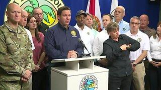 Gov. Ron DeSantis speaks in Palm Beach County about Hurricane Dorian