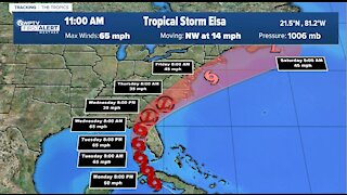 Tracking Tropical Storm Elsa as it heads toward Florida