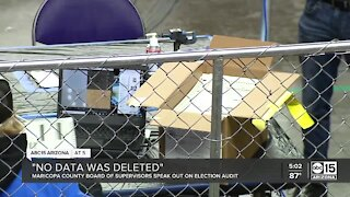 'No data was deleted': Maricopa County Board of Supervisors speak out on election audit