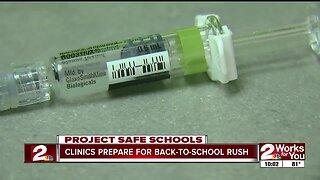Clinics prepare for back-to-school rush