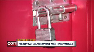 Middletown youth softball team hit by vandals