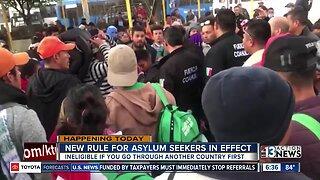 New rule in effect for asylum seekers