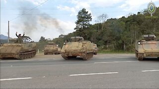 M113BR ARMORED VEHICLES FROM THE BRAZILIAN ARMY