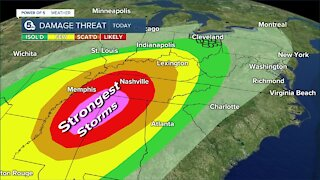 Power of 5 meteorologist Trent Magill gives update on strong storms expected this afternoon