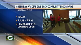 Green Bay Packers Give Back Community Blood Drive
