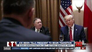 President-elect Joe Biden tells President Trump to begin transition