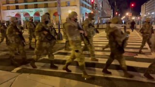 Military Police Patrol U.S. Capitol Streets - Washington DC is Under Military Occupation