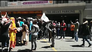 South Africa Cape Town - Refugees protest(Video) (rjL)