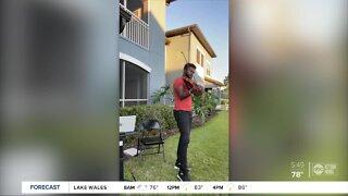 Local family brings joy to neighbors stuck inside through music