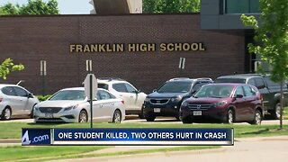 Franklin community mourns teen killed in crash
