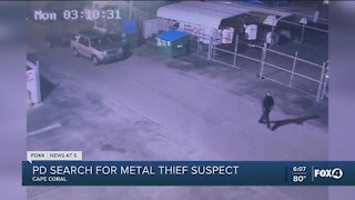 Cape Coral Police search for metal theif