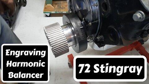 Engraving Harmonic Balancer on CNC Mill