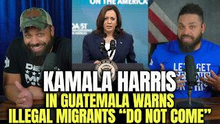 "Kamala Harris In Guatemala, Warns Illegal Migrants ""Do Not Come"""