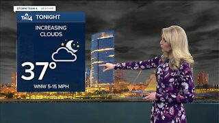 Sunny, mild Saturday with high in the mid 50s
