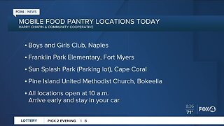Harry Chapin mobile food pantry locations